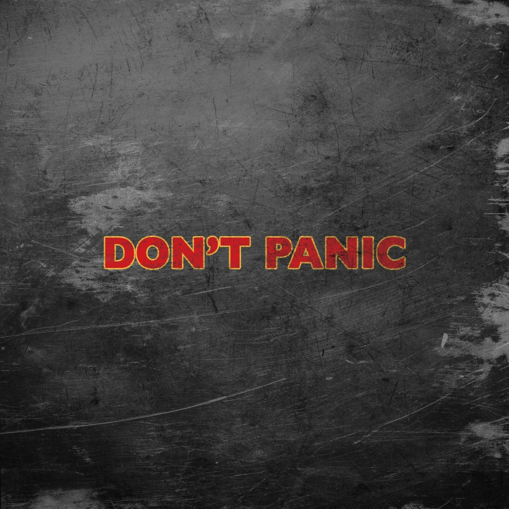 DON'T PANIC iPad Wallpaper
